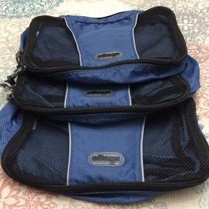 eBags set of 3 travel packing cubes blue new